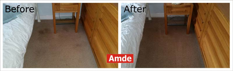 carpet cleaning in Gorebridge flat. before - after