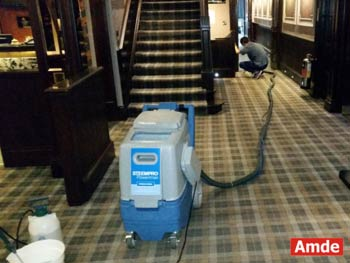 hotel hall and stairs carpet cleaning