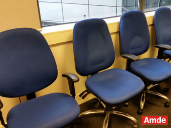 blue office chairs cleaning services edinburgh