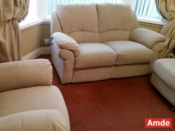 armchair, sofa and footstool upholstery cleaning