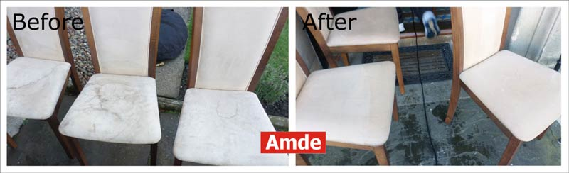 White Dinning Chairs cleaning service in edinburgh