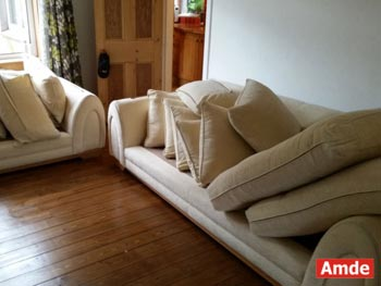 2seater & 3seater sofas with fabric upholtery cleaning