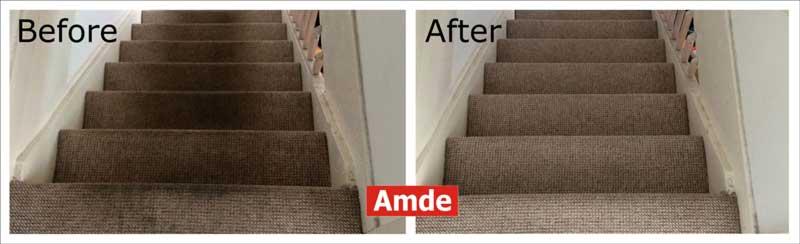 dirty stair carpet cleaned in edinburgh