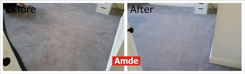 blue bedroom's carpet cleaning in Edinburgh