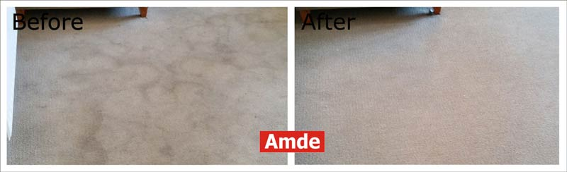 stain in bedroom carpet cleaning - great result