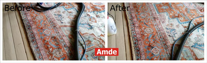 clean large girty rug East Lothian, Haddington - before-after pic