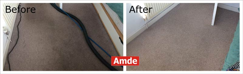 stain in bedroom carpet cleaning in edinburgh - great result