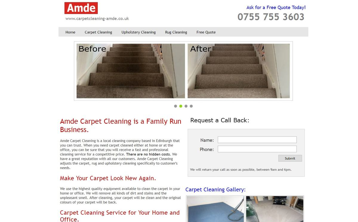 Amde Carpet Cleaning Service Lothians Fife 9 Years